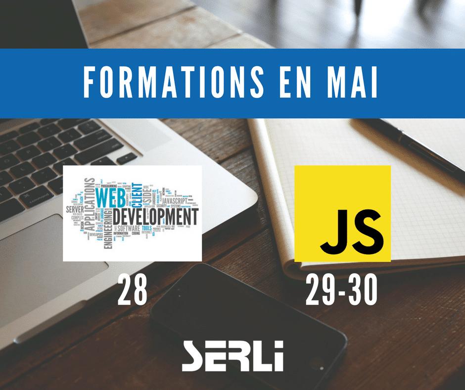 Formation en mai 2018 JavaScript et Développement Web